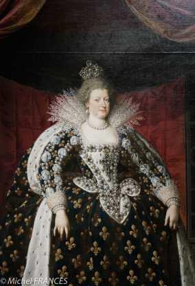 Musée du Luxembourg - exposition Rubens, portraits princiers - Franz Pourbus dit le jeune - Marie de Médicis, reine de France