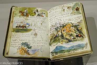 """à l'expo """"Dessiner en plein air"""", un carnet de croquis de Delacroix"""