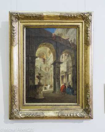 Palais Sternberg - Galerie nationale - Francesco Guardi Cour d'un palais - 1775-1780