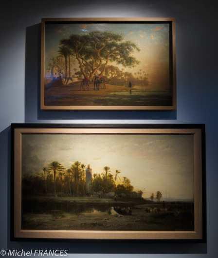 Musée du quai Branly - Peintures des lointains - Narcisse Berchère - Oasis arabe -1853 - Honoré Boze - Campement des cavaliers arabes près de Tlemcem, Algérie - 1872