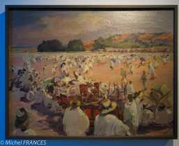 Musée du quai Branly - Peintures des lointains - Lous Dumoulin - Le marché du Zoma à Tananarive - 1913