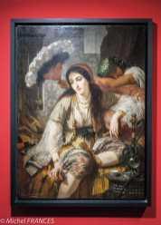 Musée du quai Branly - Peintures des lointains - Ange Tissier - L'Odalisque dit aussi L'Algérienne et son esclave - 1860
