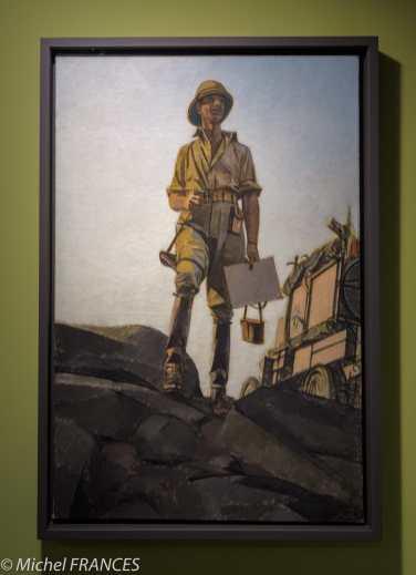 Musée du quai Branly - Peintures des - Bernard Boutet de Monvel - Portrait de Georges-Marie Haardt - vers 1926