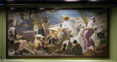 Musée du quai Branly - Peintures des lointains - Georges Michel dit Géo Michel - principales productions d'origine minérale et animale