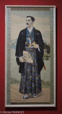 Musée du quai Branly - Peintures des lointains Anonyme (Japon) - Portrait en pied d'un homme européen - 1870-1880