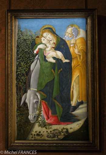 Musée Jacquemart-André - Sandro Botticelli - La fuite en Égypte - 1510
