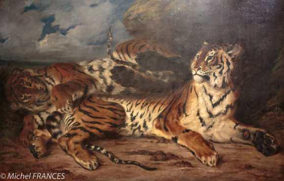 exposition Eugène Delacroix - Jeune tigre jouant avec sa mère