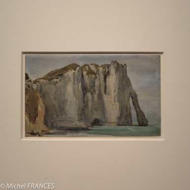 exposition Eugène Delacroix - Falaises à Étretat - vers 1849