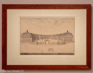 exposition Israël Silvestre - Vue du château de Versailles depuis l'avant-cour - 1682