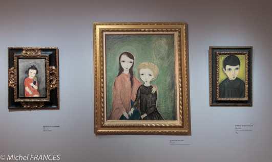 Musée Maillol - Exposition Foujita - Petite fille à la poupée - Les deux petites amies - Portrait de petit écolier - 1918