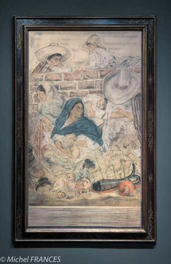 Musée Maillol - Exposition Foujita - Le Mexique - 1933 - Peinture réalisée lors de son séjour en Amérique latine. Elle conclut l'exposition.