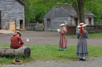 Upper Canada Village - les écoles font des soties scolaires, déguisements compris !
