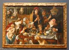 musée des beaux-arts d'Ottawa - Jacob Jordaens et son atelier - Les jeunes piaillent comme chantent les vieux - vers 1640