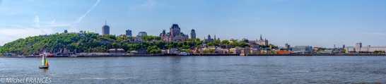 Québec depuis le traversier venant de Lévis