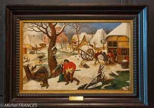 musée des beaux-arts de Montréal - Pierre Breughel le jeune - Retour de l'auberge - vers 1620
