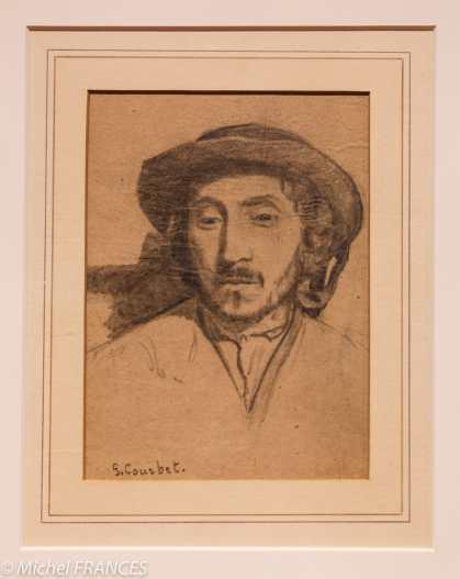 musée des beaux-arts de Montréal - exposition temporaire sur les estampes du musée - Gustave Corbet - Portrait d'homme - années 1840