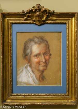expo Pastels - Rosalba Carriera - Portrait présumé de la gouvernante de Crozat