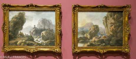 expo Pastels - Jean Pillament - Le repos dans la montagne - Le chemin de montagne - Ce sont les seuls pastels exposés qui ne sont pas des portraits