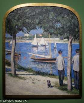 Gustave Caillebotte - La berge du Petit Gennevilliers et la Seine- 1890