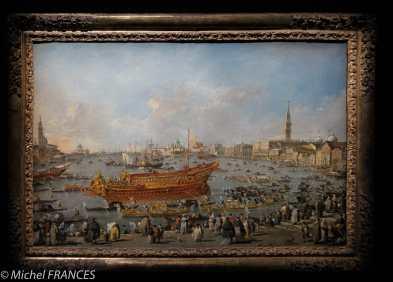 expo Éblouissante Venise - Francesco Guardi - Le Doge à bord du Bucentaure part pour le Lido le jour de l'Ascensio - vers 1774-1777