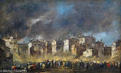 expo Éblouissante Venise - Francesco Guardi - L'incendie de San Marcuola - 1789