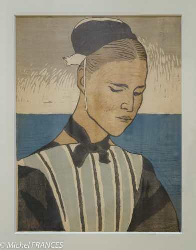 Yamamoto Kanae - Bretonne - 1920 - gravure sur bois
