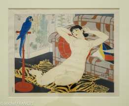 Ishikawa Toraji - Le perroquet bleu