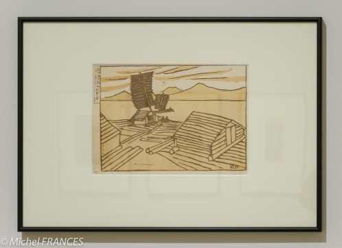 Koizumi Kishio - Radeaux sur le fleuve Yalou - 1928