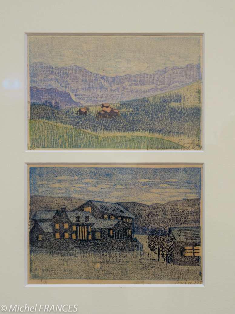 Oda Kazuma - Deux paysages - 1933