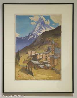 Yoshida Hiroshi - Le mont Cervin - 1925