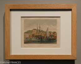 Musée beaux-arts de Brest - Jules Noël - Brest, embarcadère de Recouvrance - 1844
