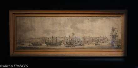 Musée beaux-arts de Brest - Louis-François Cassas - Brest, le port en Penfeld - 1777