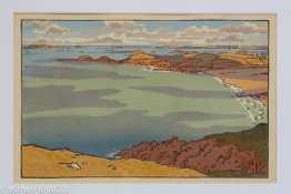 Musée beaux-arts de Brest - Henri Rivière - Pointe du Décollé vue de la Garde Guérin - vers 1890
