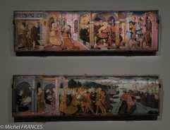 expo Collection Campana - Guidoccio Cozzarelli - L'histoire de Lucrèce et Tarquin - Le départ d'Ulysse - bois de peuplier - vers 1483