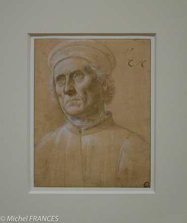 expo Gravure en clair-obscur - Lorenzo Sciarpelloni - Buste d'un vieillard coiffé d'in bonnet rond - dessin