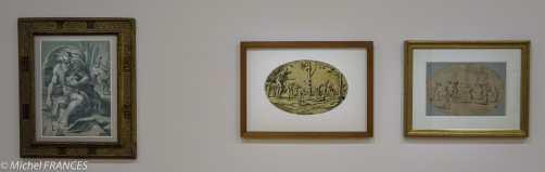 expo Gravure en clair-obscur - Ugo da carpi d'après Parmigianino - Diogène - Ugo da Carpi et dessin préparatoire par Giuio Romano