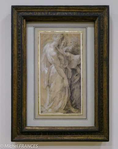 expo Gravure en clair-obscur - Domenico Beccafumi - Trois apôtres ou prophètes - dessin