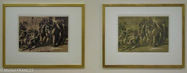 expo Gravure en clair-obscur - Niccolo Vicentino d'après Parmigianino - Le Christ guérissant les lépreux - années 1540