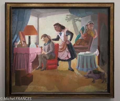Orangerie - expo Paula Rego - Les bonnes - 1987 - acrylique sur papier monté sur toile