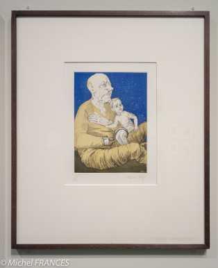 Orangerie - expo Paula Rego - Capitaine Crochet et l'enfant perdu - gravure à l'eau-forte et aquatinte - 1992