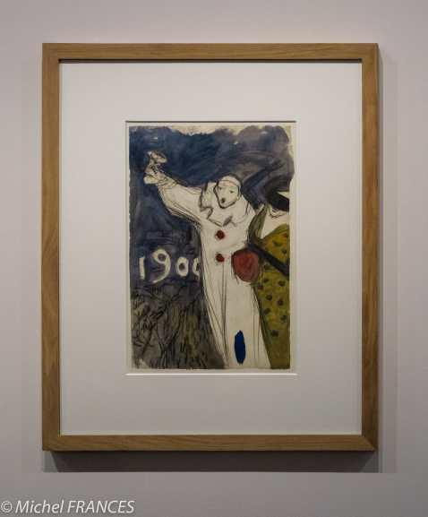 musée d'Orsay, exposition Picasso rose et - projet pour une affiche de carnaval - 1899