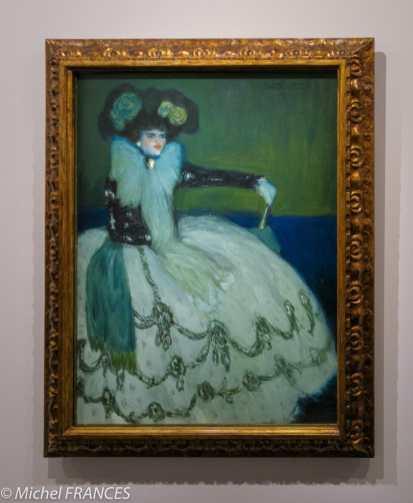 musée d'Orsay, exposition Picasso rose et bleu - Femme en bleu - début 1901
