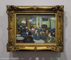 musée d'Orsay, exposition Picasso rose et bleu - Café-concert du Paralelo - vers 1900 - huile sur bois