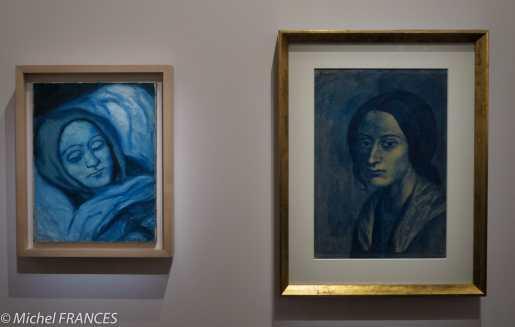 musée d'Orsay, exposition Picasso rose et bleu - à droite, Femme à la mèche