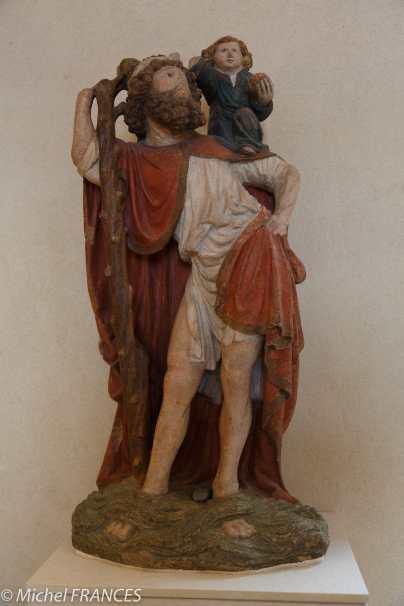 Bourgogne - vers 1450 - Saint Christophe portant l'Enfant Jésus -
