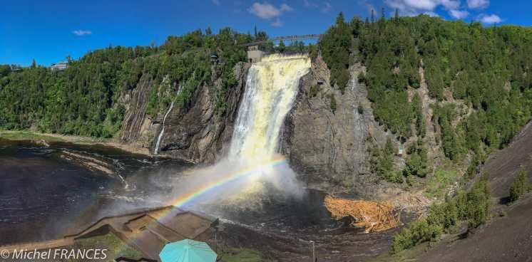 Québec, la chute du parc Montmorency