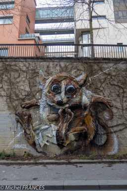Bordalo II - souris de Madagascar, rue Watt
