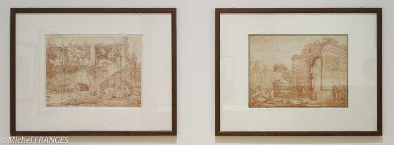 Fondation Custodia - expo 500 dessins musée Pouchkine - Hubert Robert