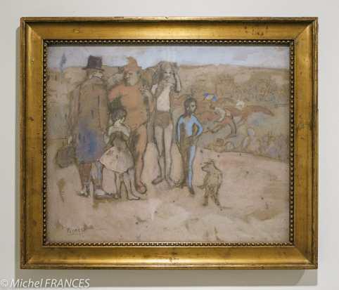 Fondation Custodia - expo 500 dessins musée Pouchkine - Pablo Picasso - Les bateleurs, esquisse - 1905