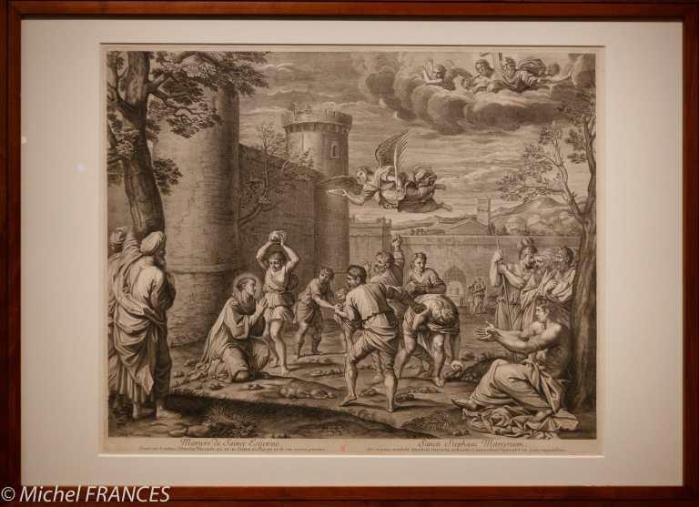 exposition Graver pour le Roi - Guillaume Chasteau d'après Annibal Carrache - La lapidation de saint Étienne - 1670